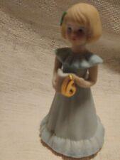 Enesco Growing Up Birthday Girls Age 6 Blonde Blue Dress Figurine No Box