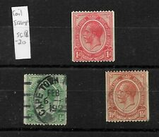 South Africa, 1913 KGV coil stamps to 1.5d, mint and used (7371)