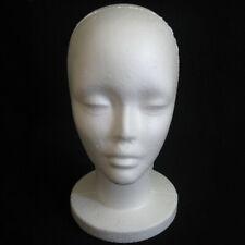 Head Model Wig Hair Glasses Hat Headset Display Styrofoam Foam Mannequin New