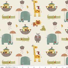 Riley Blake Giraffe Crossing Cream 100% Cotton Fabric Patchwork Quilting Quarter