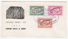 1963 DOMINICANA First Day Cover UN FREEDOM FROM HUNGER CAMPAIGN SG888 to SG890