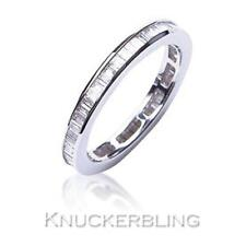 Genuine Diamond Eternity Wedding Ring 1.00ct Baguette Cut F VS1 18ct White Gold