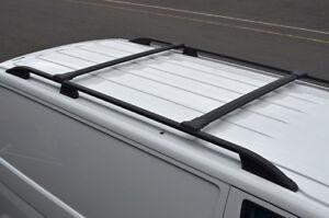 Black Cross Bar Rail Set To Fit Roof Side Bars To Fit Peugeot Bipper (2008+)