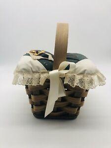 Vintage Handmade Sewing Basket