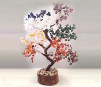 7 Chakra Crystal Gemstone Bonsai Money Tree Good Luck Prosperity FengShui