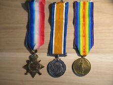 WORLD WAR 1  MEDAL TRIO ROYAL FIELD ARTILLERY WITH DOCS