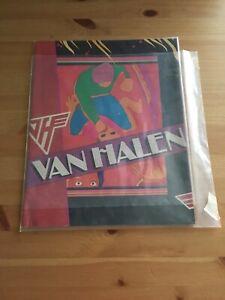 VAN HALEN 1981 FAIR WARNING TOUR CONCERT PROGRAM BOOK DAVID LEE ROTH original