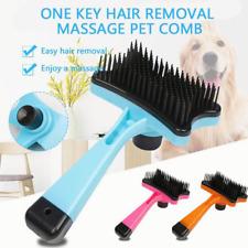 More details for self cleaning small pet dog cat grooming clean slicker hair brush comb fur rake