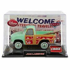 Disney Store Cars Die Cast Collector Case John Lassetire Chase w/ Surfboard NEW