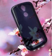Blue TPU Gel Jelly Case Cover for Telstra Tough Max T85  Free Screen Guard