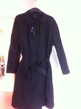 M&S Mac Coat Size 14 Autograph Black Water Resistant £99.00 New