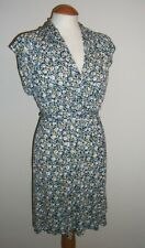 FRENCH CONNECTION Quality DESIGNER Navy Blue Floral Dress - UK 10