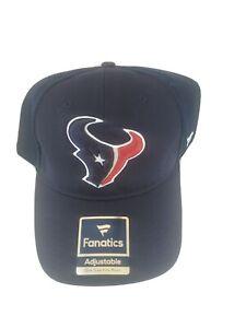 NEW Houston Texans NFL Football Fanatics Adjustable Cap Hat Authentic Blue