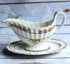 Spode BUTTERCUP GRAVY BOAT UNattached UNDERPLATE (Relish)China Older Backstamp