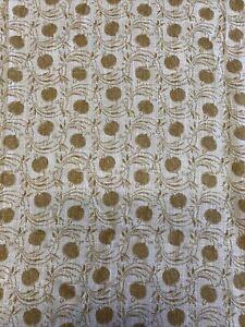 """GP & J BAKER CURTAIN FABRIC DESIGN """"Seed Pod"""" 1.1 METRES Mustard LINEN BLEND"""