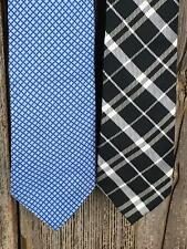 $79 Lot of 2 Mens Ties cotton Arcadia and Knots   (1TA14)
