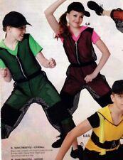 NWOT Dance Costume Hiphop Unitard Mesh Jumpsuit Medium child zipperfront hood