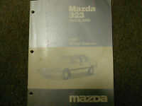 1990 Mazda 323 2wd 2WD 4wd WIRING Diagram Electrical Service Repair Shop Manual