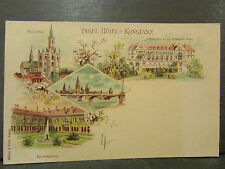cpa allemagne germany constance konstanz insel hotel illustrateur