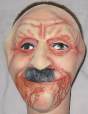 Rubber Halloween Old Man w Mustache Mask - One Size