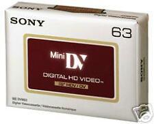 DVM63HD SONY MINI DV HD NEW 25 PACK $8.25 PER TAPE