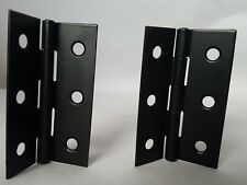 "1 SET (PAIR) 3"" 3 INCH Matt BLACK Interior DooR Butt Hinges D12"