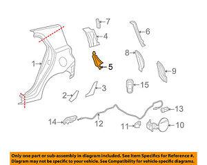 61743-52080 Toyota Reinforcement, back door opening side, rh 6174352080, New Gen