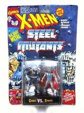 Cable vs Stryfe Vintage Toybiz X-Men Steel Mutants Metal Figures MOC New 1994