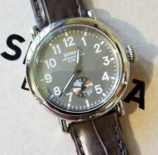SHINOLA Runwell Watch 36mm Grey Face & Brown Alligator Leather Band