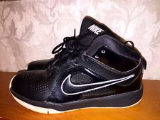 NIKE Black Leather AIR MAX Hi TOPS Boys Girls Basketball Athletic Shoes Size 4.5