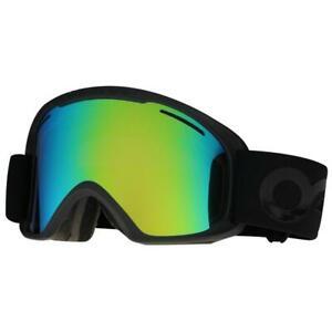 Oakley OO 7045-07 O2 XL Factory Pilot Blackout Jade Iridium Snow Ski Goggles .