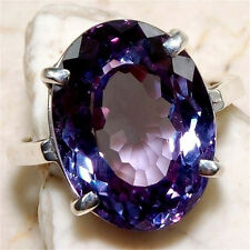 Women Lady Girl 925 Silver Amethyst New Rings Engagement Party Jewelry Size 9