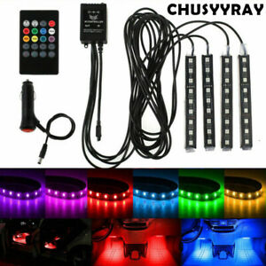Car Foot Light Interior Decorative Ambient LED Lamp LED Atmosphere RGB Colorful