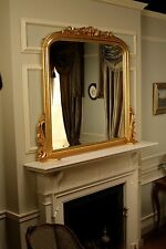Gold Mantel Mirror H126 x W140 x D11.5 cm Solid Mahogany Antique Repro MR016