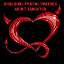 300 Daily Adult Targeted Visitors For 12 Months Limited Offer