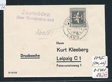99492) 5PF Flp Mi 609 Pl-F.II, DS 1964 Landpost-L2 Zaunröden über Sondershausen
