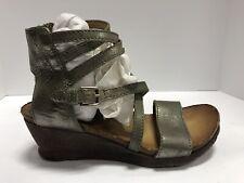 Miz Mooz, Shay, Sage Metallic, Brown Leather, Euro 37 Wo's Size 6.5-7M