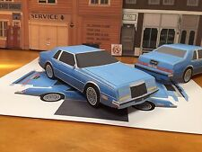 PaperCraft Chrysler Imperial EZU-make Blue Paper Model Car 1981-1983