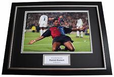 Patrick Kluivert SIGNED FRAMED Photo Autograph 16x12 display Barcelona Football