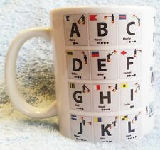NATO PHONETIC ALPHABET & MORSE ON A MUG, IDEAL GIFT, CB, BOAT RADIO OPERATOR