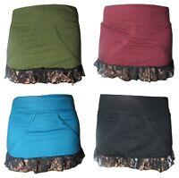 Psy Trance Frill Lace Party Skirt 8 10 12 14 Festival Pixie Goa Mini Skirt