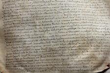 LARGE medieval1599 Henry IV royal notary manuscript parchment AUTHENTIC RARE