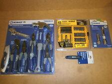 Tool Sets, 3 Kobalt, 1 DeWalt, Free T Shirt