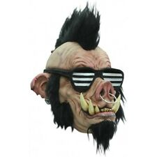 Boar Punk Full Head Latex Mask Adult Halloween Fancy Dress Halloween