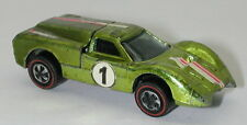 Redline Hotwheels Lime Yellow 1968 Ford J Car oc14261