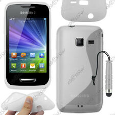 Housse Etui Coque Silicone S-line Transparent Samsung WAVE Y S5380 + Mini Stylet