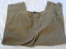 MENS ROUNDTREE & YORKE FLAT FRONT KHAKI CORDUROY PANTS, 36 X 29