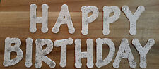IRON ON Felt Letters, Star Pattern, Die Cut - Happy Birthday
