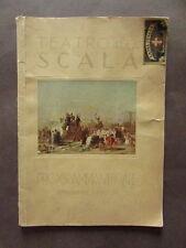 Programma Teatro Scala Milano Rigoletto Verdi Toti Dal Monte Galeffi 1930 1931