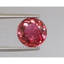 Natural Pink Tourmaline Pinkish Orange Red color Round shape 3.27 carats